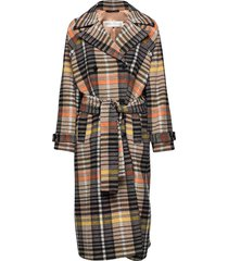 zettaiw raglan coat wollen jas lange jas multi/patroon inwear