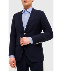chaqueta casual azul liso trial