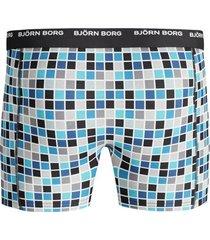 bjorn borg boxers 3-pak basic classic check zwart