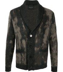 roberto collina bleached-effect mohair cardigan - grey