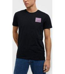 solid dave ss t-shirt t-shirts & linnen black