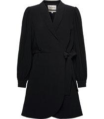 blazer wrap dress korte jurk zwart maud