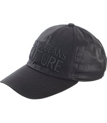 versace jeans couture nylon lurex baseball cap w/pences