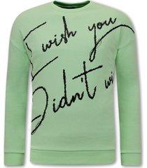 tony backer sweater met tekst mint