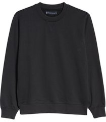 men's everlane uniform french terry crew sweatshirt, size large - black