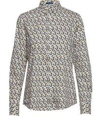 d1. autumn print stretch bc shirt overhemd met lange mouwen multi/patroon gant