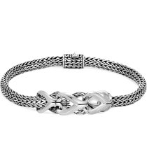 'asli classic chain' silver station link extra small bracelet