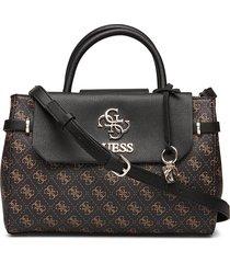 esme girlfriend satchel bags top handle bags zwart guess