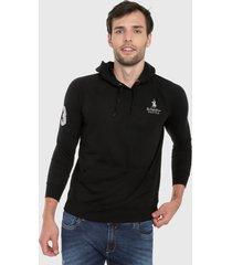 buzo negro-blanco royal county of berkshire polo club
