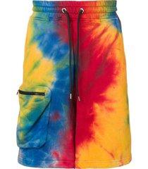 mauna kea tie-dye track shorts - red