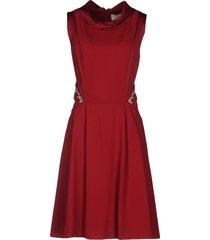 kleider knielanges kleid  rot