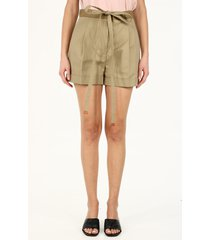 loewe belted shorts in cotton
