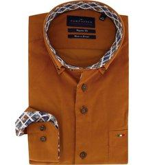 overhemd portofino oranje borstzakje regular fit