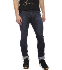 jeans coca-cola azul - calce skinny