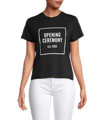 opening ceremony women's logo t-shirt - deep smoke - size m