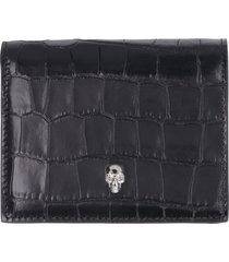 alexander mcqueen skull small leather wallet