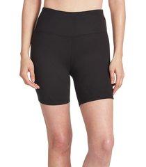 sage collective women's soild bike shorts - black - size xs