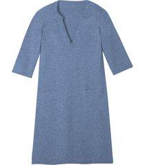 gebreide jurk, jeansblauw 40/42