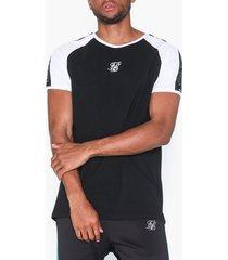 siksilk raglan straight hem tape gym tee t-shirts & linnen white/black