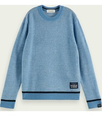 scotch & soda structured two-toned sweater