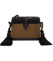 hunting season women's mini square trunk lizard leather crossbody bag - copper