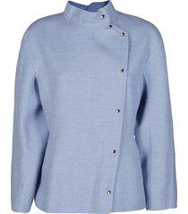 light blue cashmere jacket