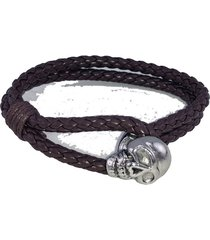 pulsera fight for your right  trenzado calavera chica