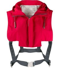 a-cold-wall* cropped shoulder gilet - red