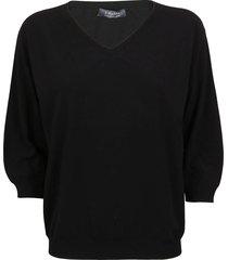 black viscose sweater