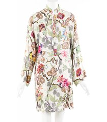 etro floral print silk dress multicolor/floral print sz: s