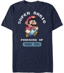 nintendo men's super mario powering up since 1991 short sleeve t-shirt
