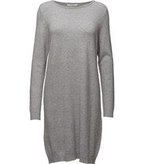 viril l/s knit dress - noos knälång klänning grå vila