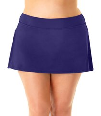 anne cole plus size swim skirt women's swimsuit