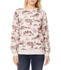 c & c california chrissy fleece bishop sleeve pullover, size x-large in moonbeam 'california at nordstrom