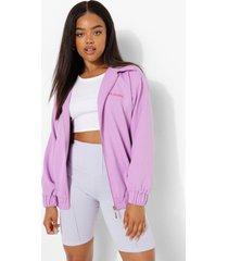 geborduurde oversized coach jas, lilac