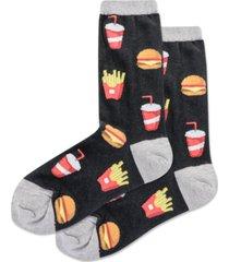 hot sox women's burger & fries crew socks