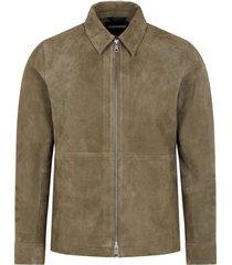 jonah zip suede jacket