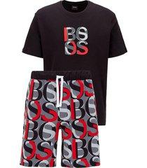 overlappende pyjama met normale pasvorm mod. relax short set 50450121
