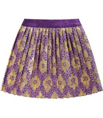 gucci gold babygirl skirt with double gg