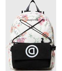 mochila double school bag multicolor desigual