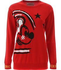 iceberg mickey mouse pullover
