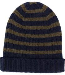 bonpoint striped knit beanie - blue