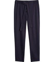 pantalón con cinturón unicolor color negro, talla 10