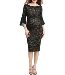 women's kimi and kai lena maternity body-con dress, size x-small - black