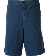 kenzo straight-leg chino shorts - blue