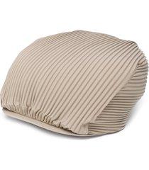 issey miyake pleated design beret - neutrals