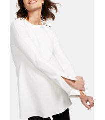isabella oliver maternity button-shoulder top