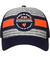 bonã© made in mato internacional rooster sports orange- coleã§ã£o striped azul - azul - dafiti