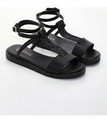 sandalia negra heyas hanis