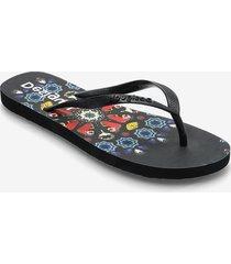 shoes flip flop butterfl shoes summer shoes flip flops svart desigual shoes